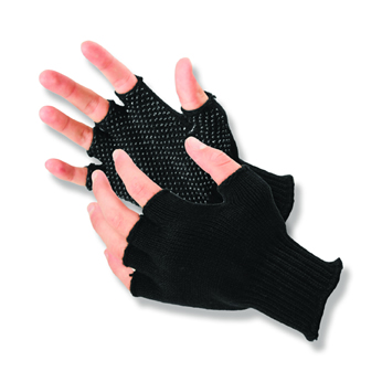 Half-Finger Grip Dot Glove - Large