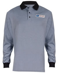 Men's USPS Retail Clerk Postal Uniform Long Sleeve Knit Polo