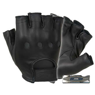 Premium Leather Driving Glove 1/2 Finger