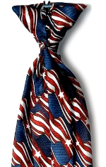 Men's Retail Clerk Stars and Stripes Clip-On Tie