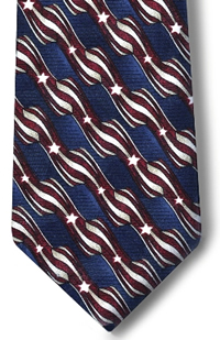 Men's Retail Clerk Stars and Stripes Four-In-Hand Tie