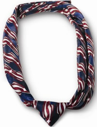 Ladies' Retail Clerk Stars and Stripes Knotted Loop Tie